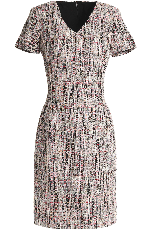 Oscar De La Renta Tweed Dress In Pink Lyst