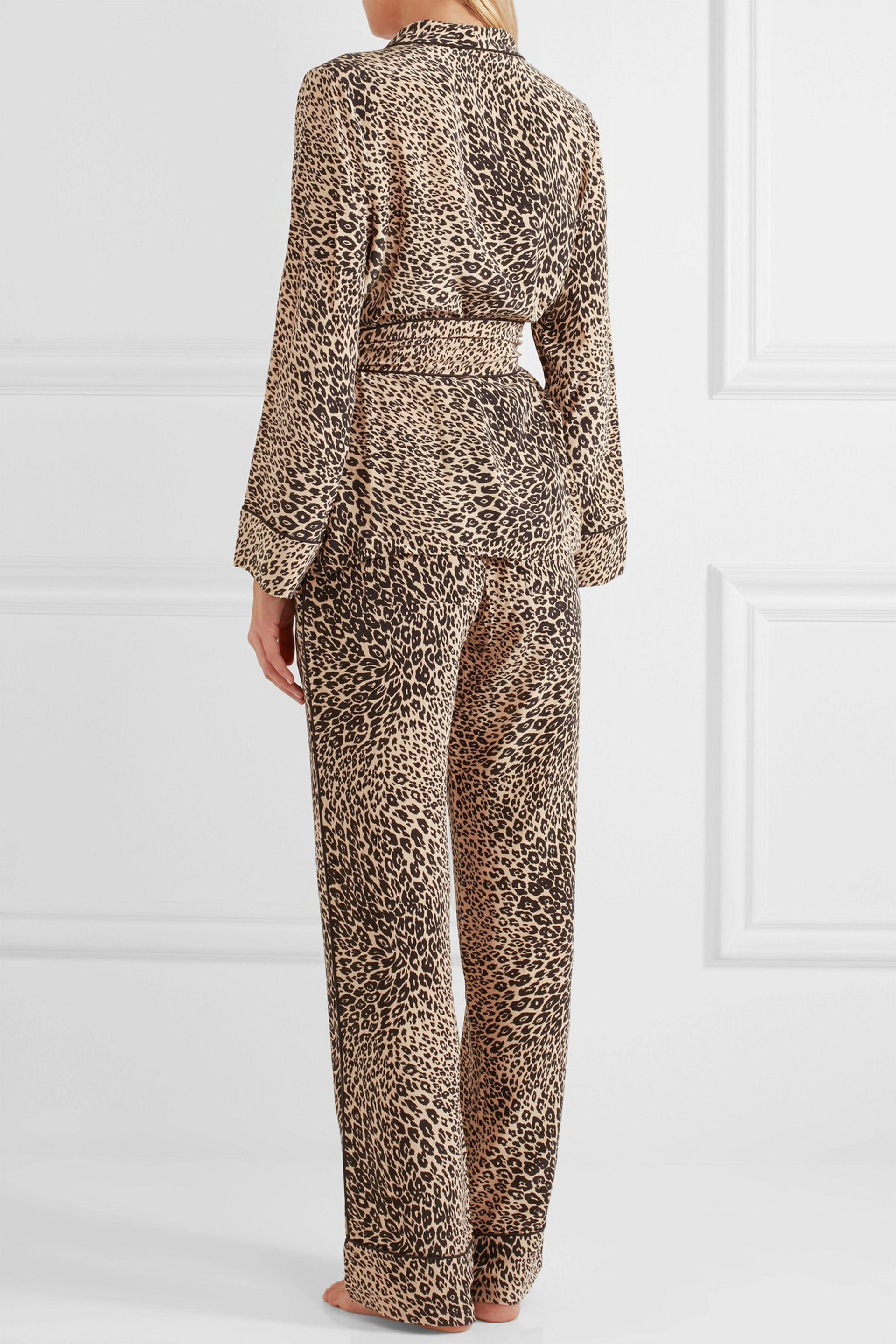 9cead73c9e Lyst - Equipment Odette Leopard-print Washed-silk Pajama Set in Natural