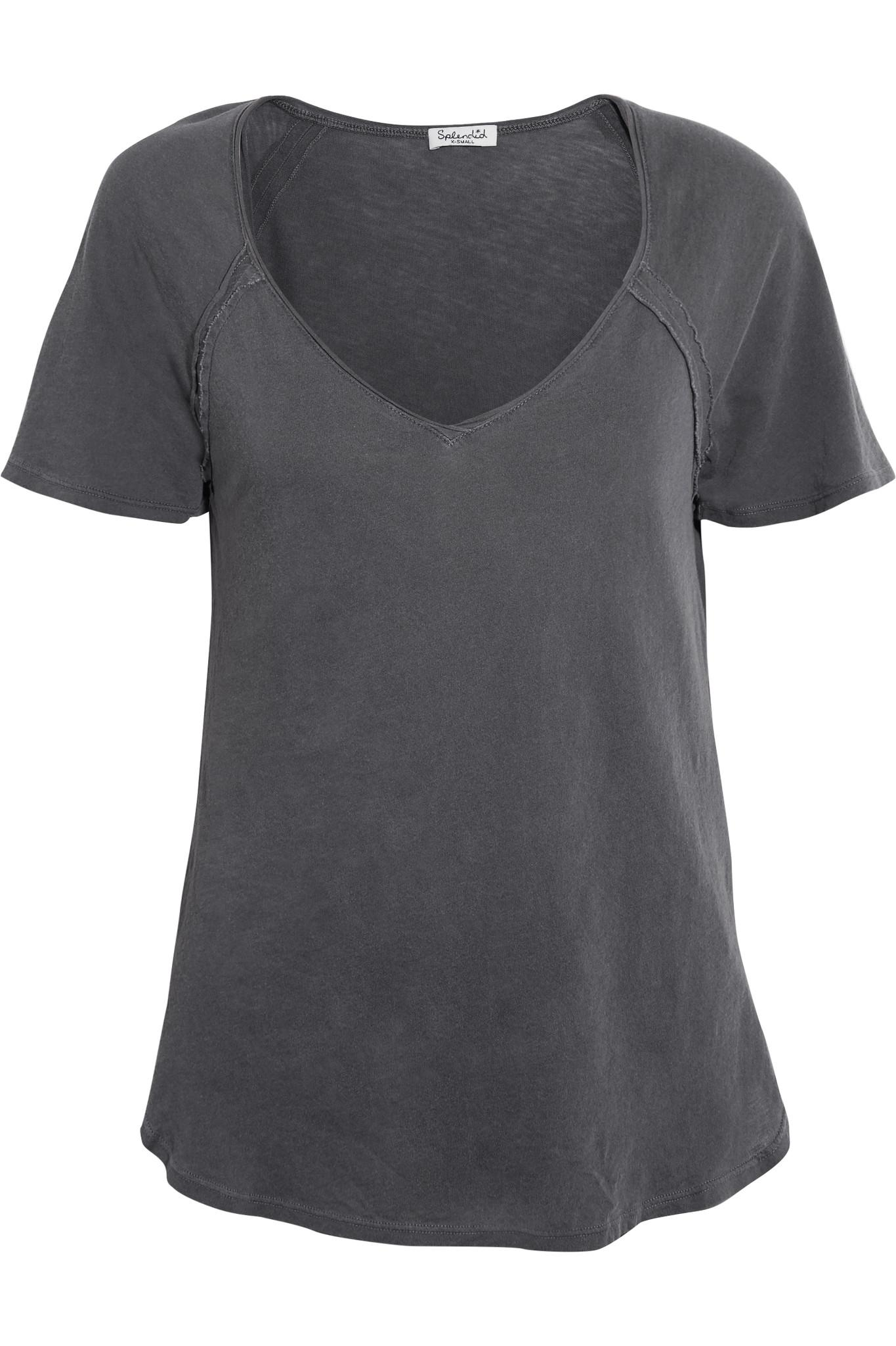Lyst splendid supima cotton t shirt in gray for Supima cotton dress shirts
