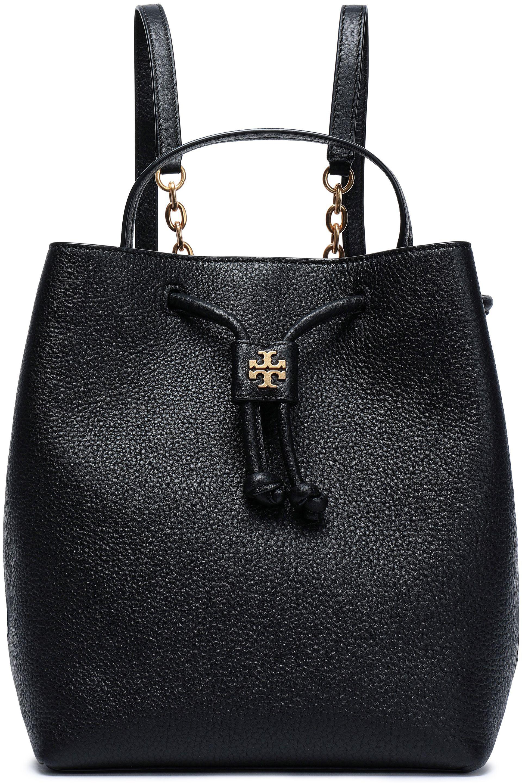 def4e4ef27eee Tory Burch Georgia Embellished Textured-leather Backpack in Black - Lyst