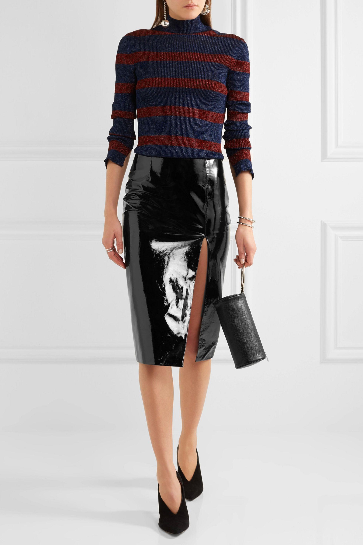 1c4ac89db6da Topshop Black Faux Leather Pencil Skirt