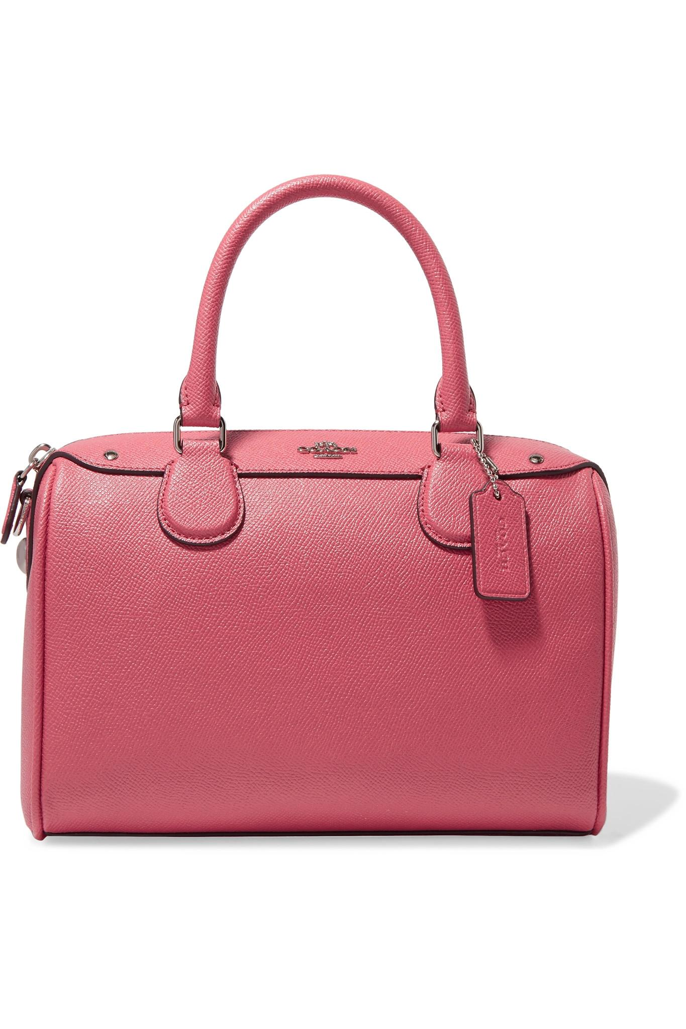 Coach Mini Bennett Textured Leather Tote In Pink Lyst