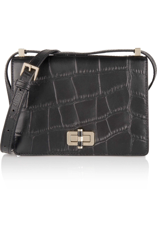 efe9dfb5606b Lyst - Diane von Furstenberg Woman Les Croc-effect Leather Shoulder ...