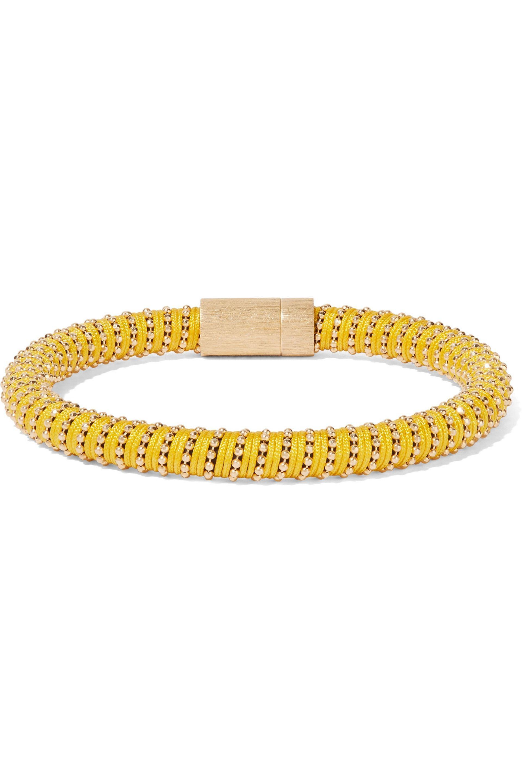 Carolina Bucci Carolina Bucci Woman Gold-tone Braided Cord Bracelet Silver Size fYz2clQsq