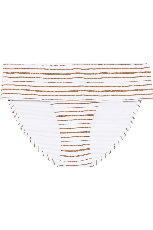 cab61e4439 Melissa Odabash. Women's Woman Brussels Metallic Striped Mid-rise Bikini ...