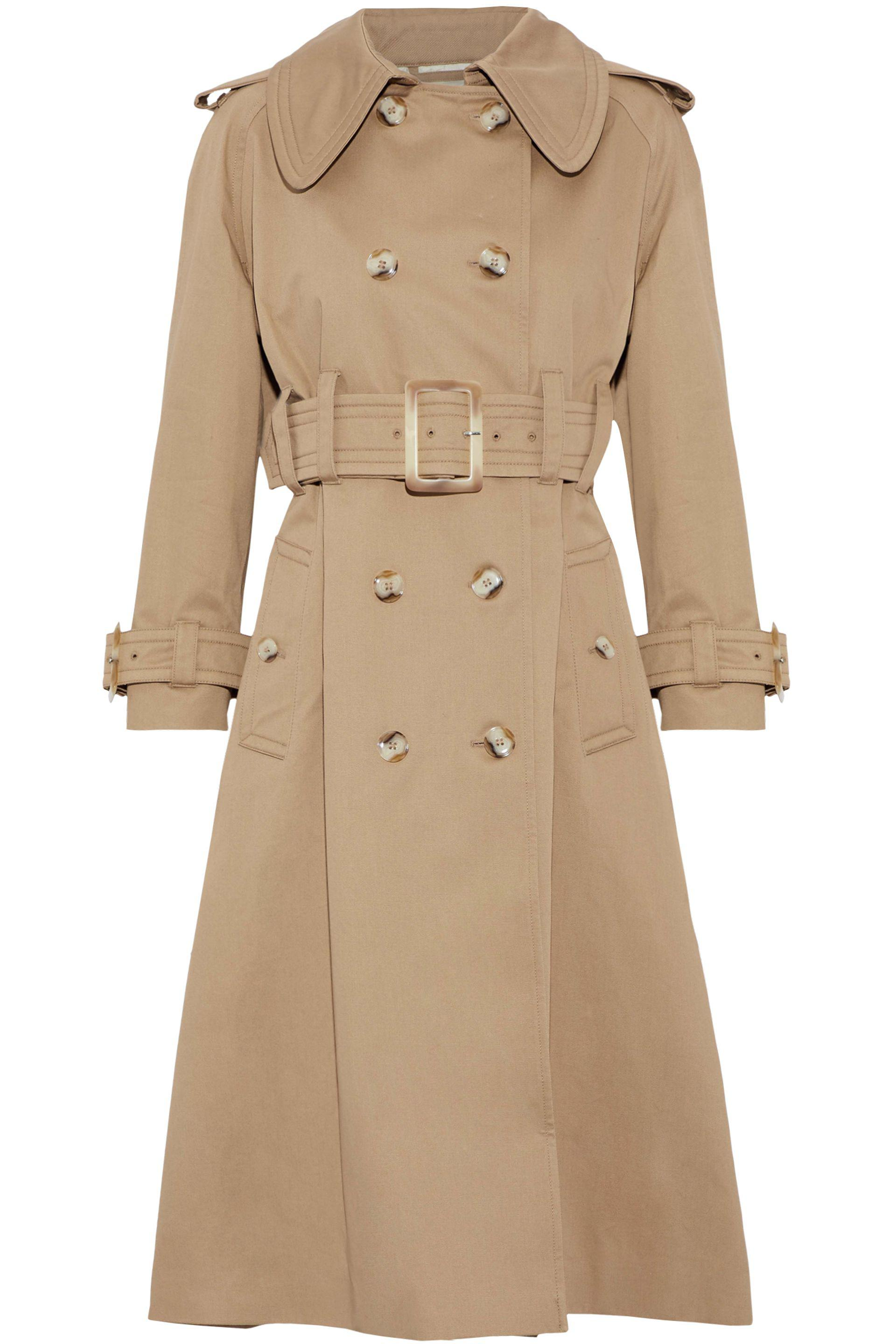 Double Lyst gabardine breasted in Trench Alexachung Cotton Coat SqqB7Cw