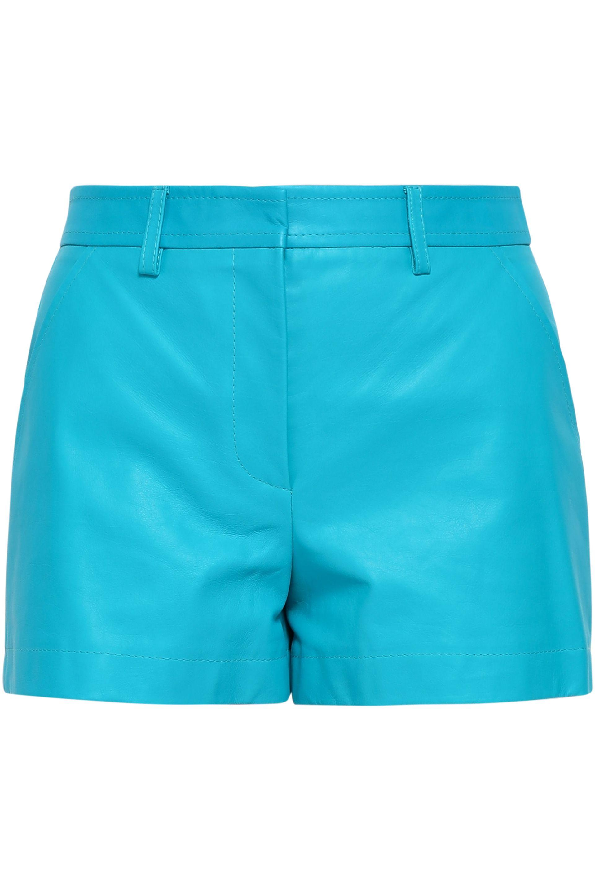 3740a0f81b46 Emilio Pucci Woman Leather Shorts Turquoise in Blue - Lyst