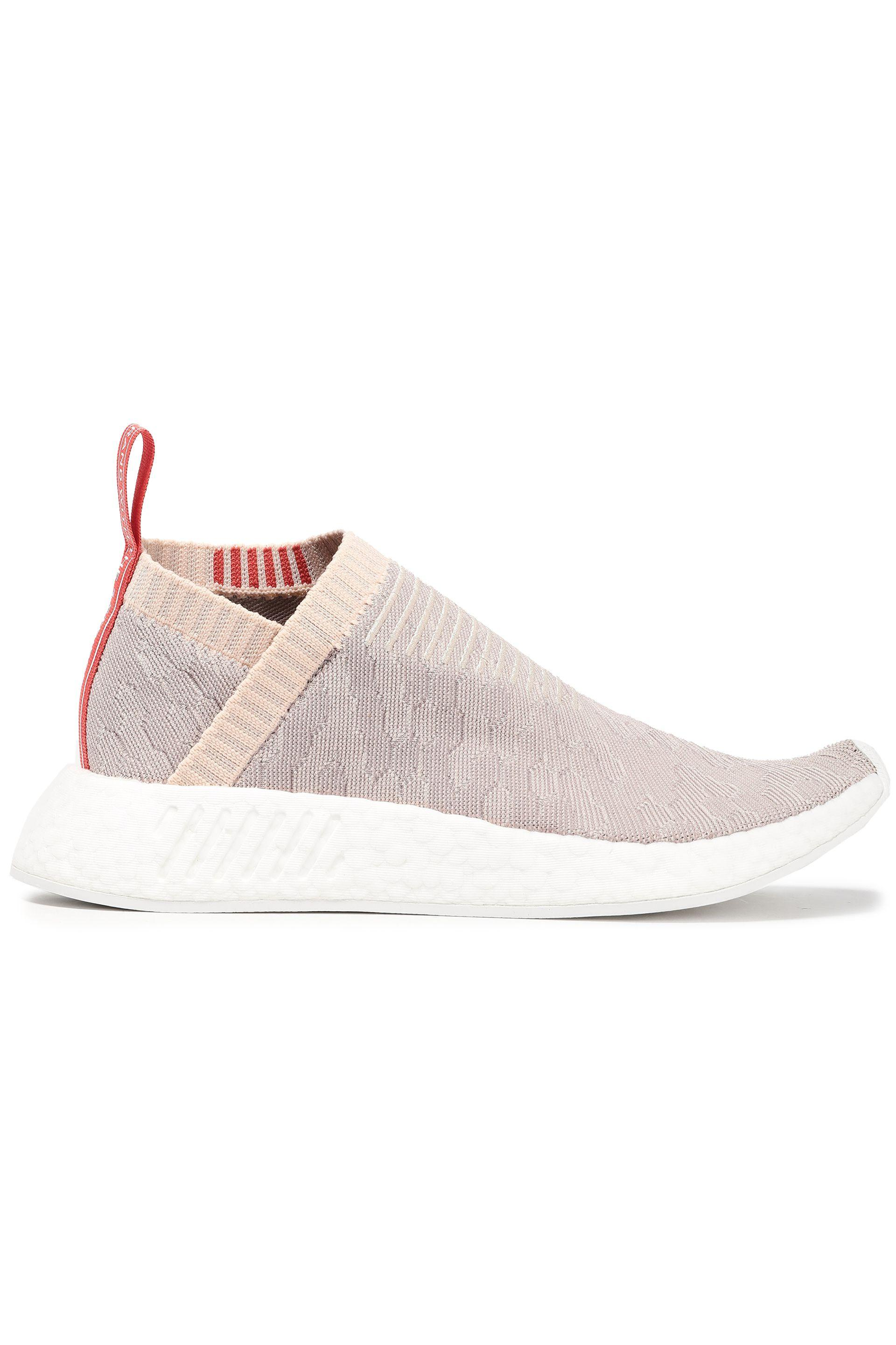 fdd6e7d72 adidas Woman Nmd Cs2 Pk Stretch-knit Slip-on Sneakers Ecru in Pink ...