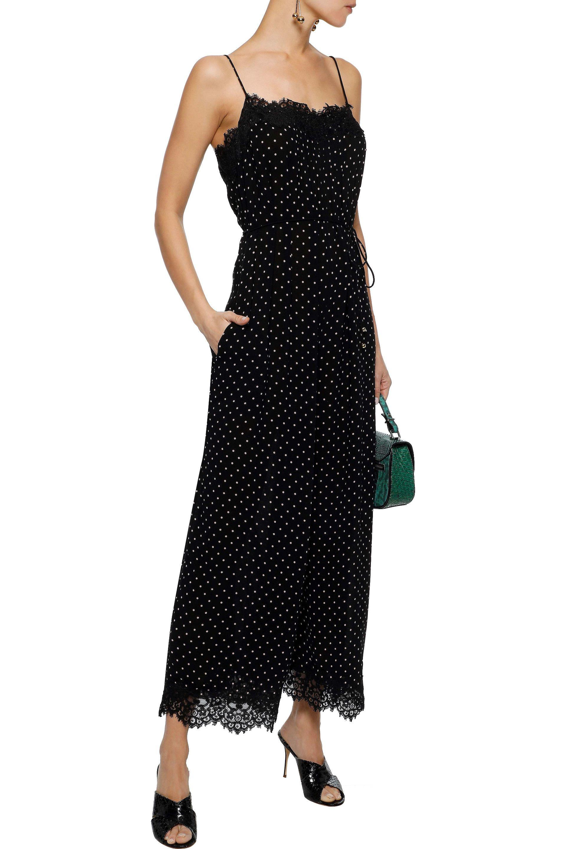 940aa2cc2c Lyst - Zimmermann Woman Cropped Lace-trimmed Polka-dot Crepe ...