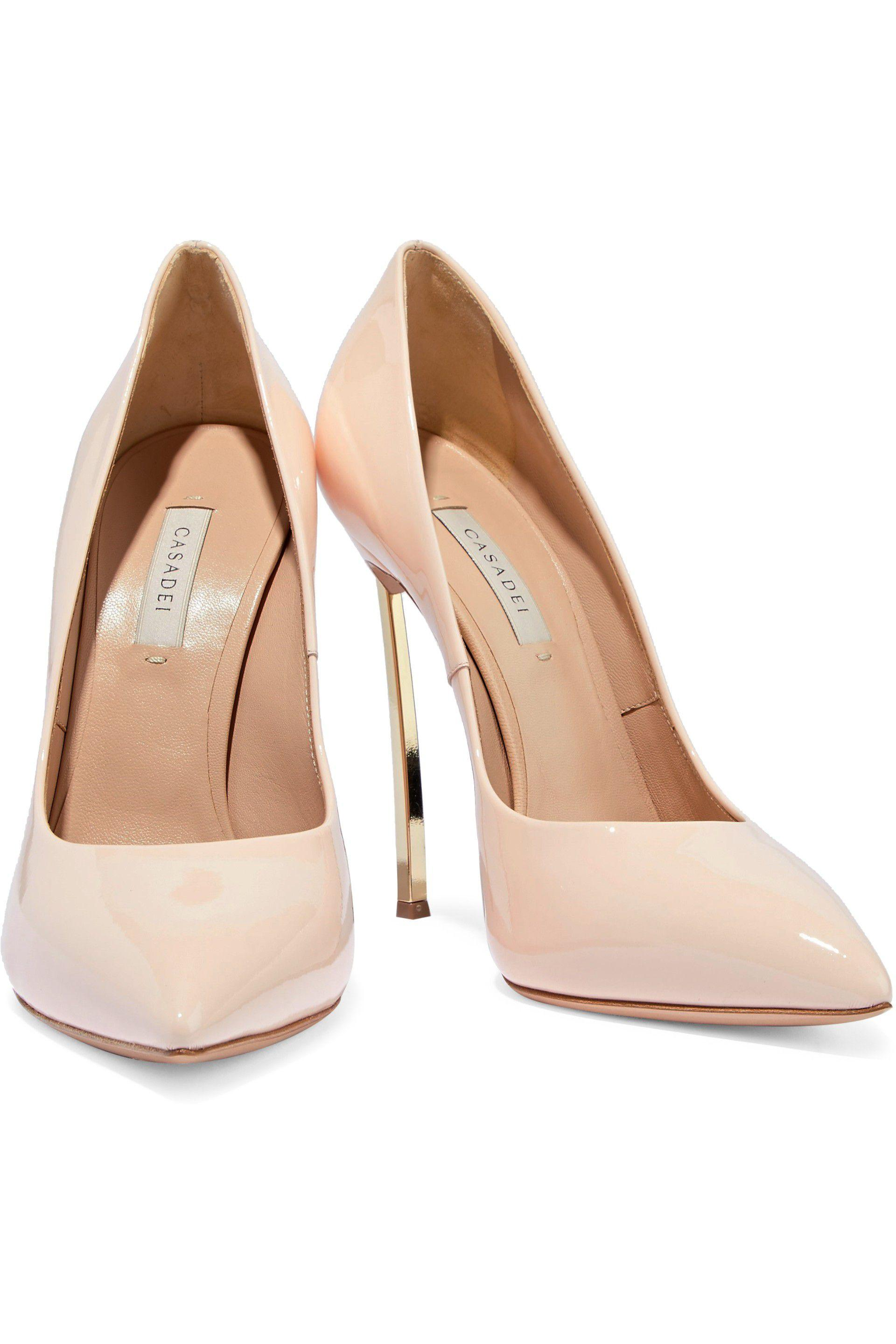 4681ea581d2 Lyst - Casadei Woman Patent-leather Pumps Beige in Natural - Save 35%