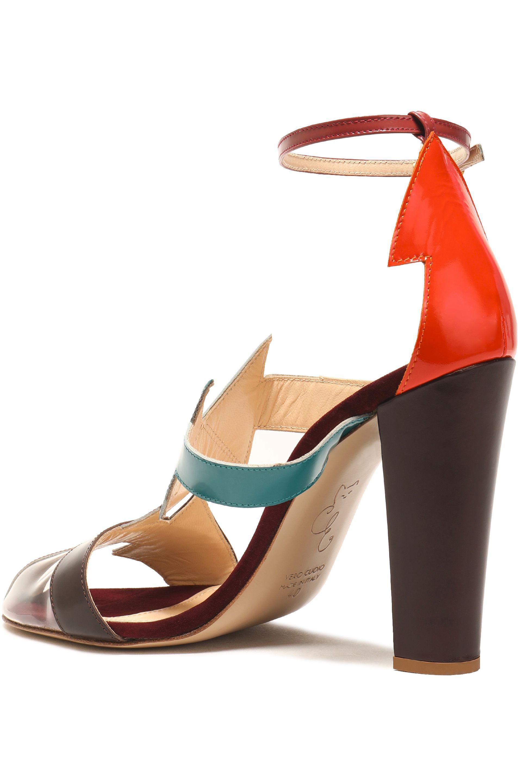 Camilla Elphick Woman Pcv-paneled Color-block Leather Sandals Multicolor Size 38 Camilla Elphick NKv1Di363i