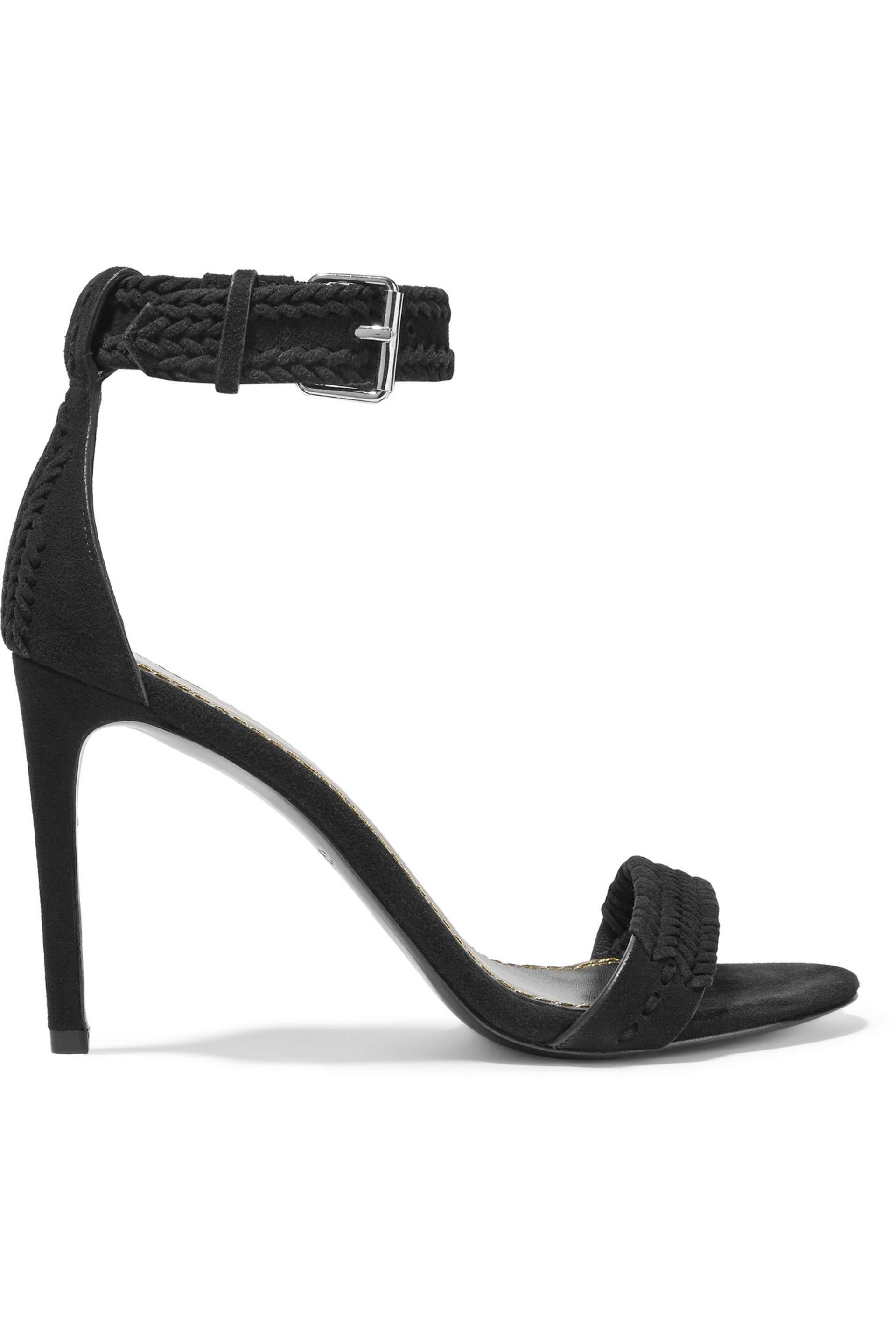 cheap newest clearance outlet locations Maje Suede Embellished Sandals uKgiMQpOk