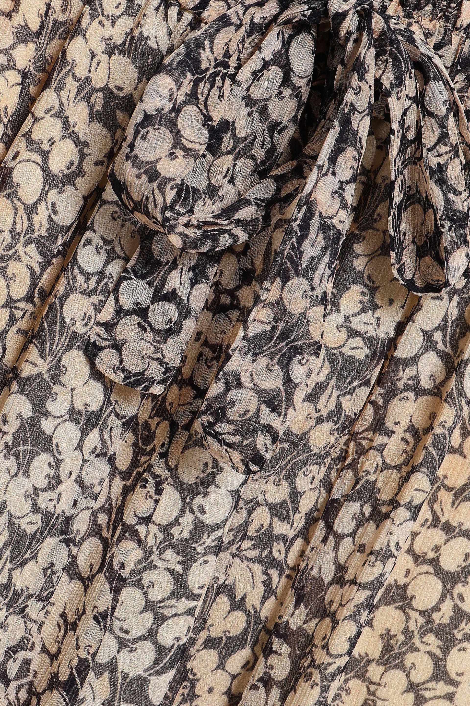 68b5e14461 Zimmermann - Woman Printed Silk-georgette Wide-leg Pants Black - Lyst. View  fullscreen