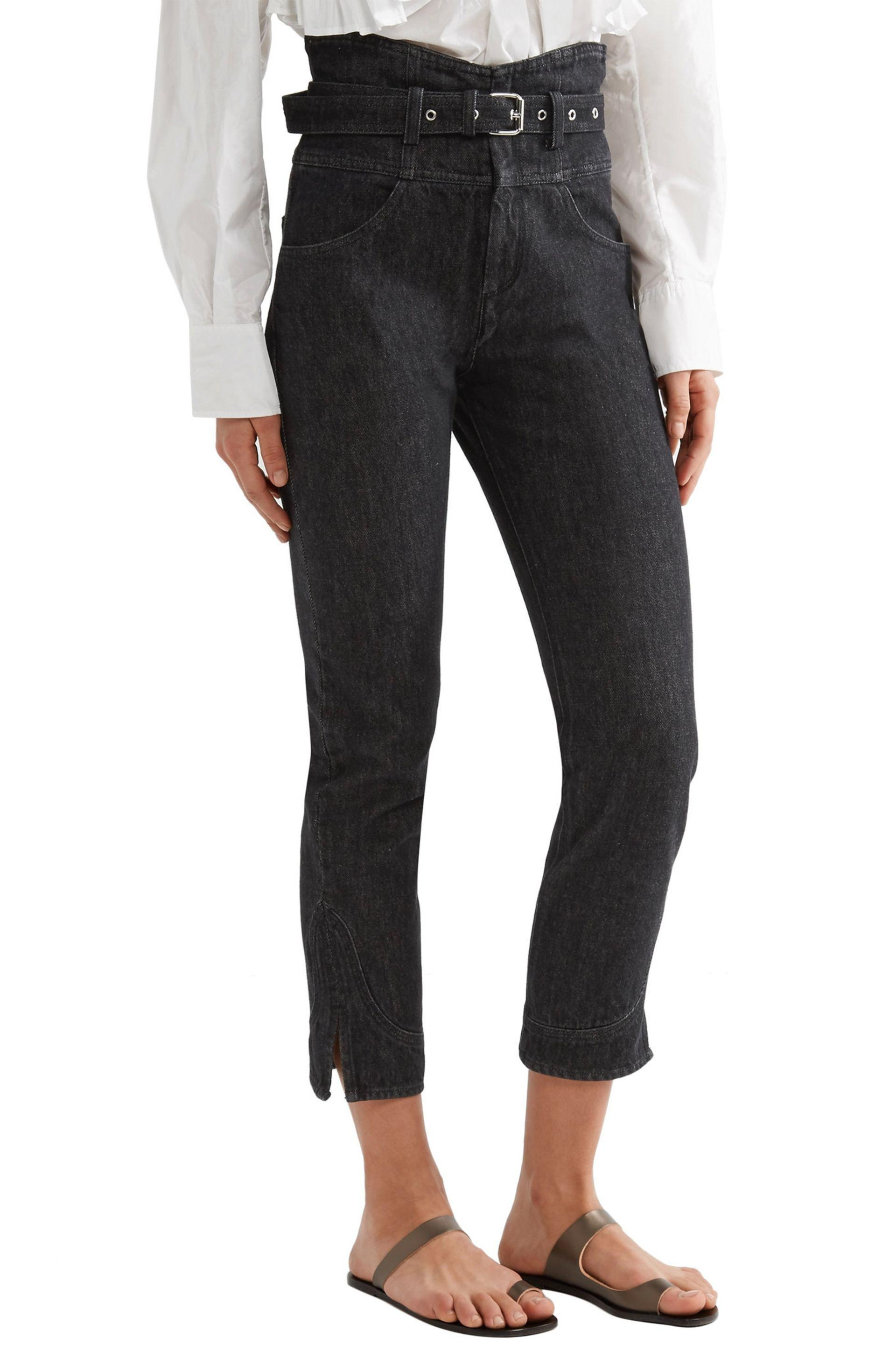 Free Shipping Low Price Sale Order Isabel Marant Woman Evera Belted High-rise Straight-leg Jeans Black Size 42 Isabel Marant Discount Footlocker Finishline Slgxwo