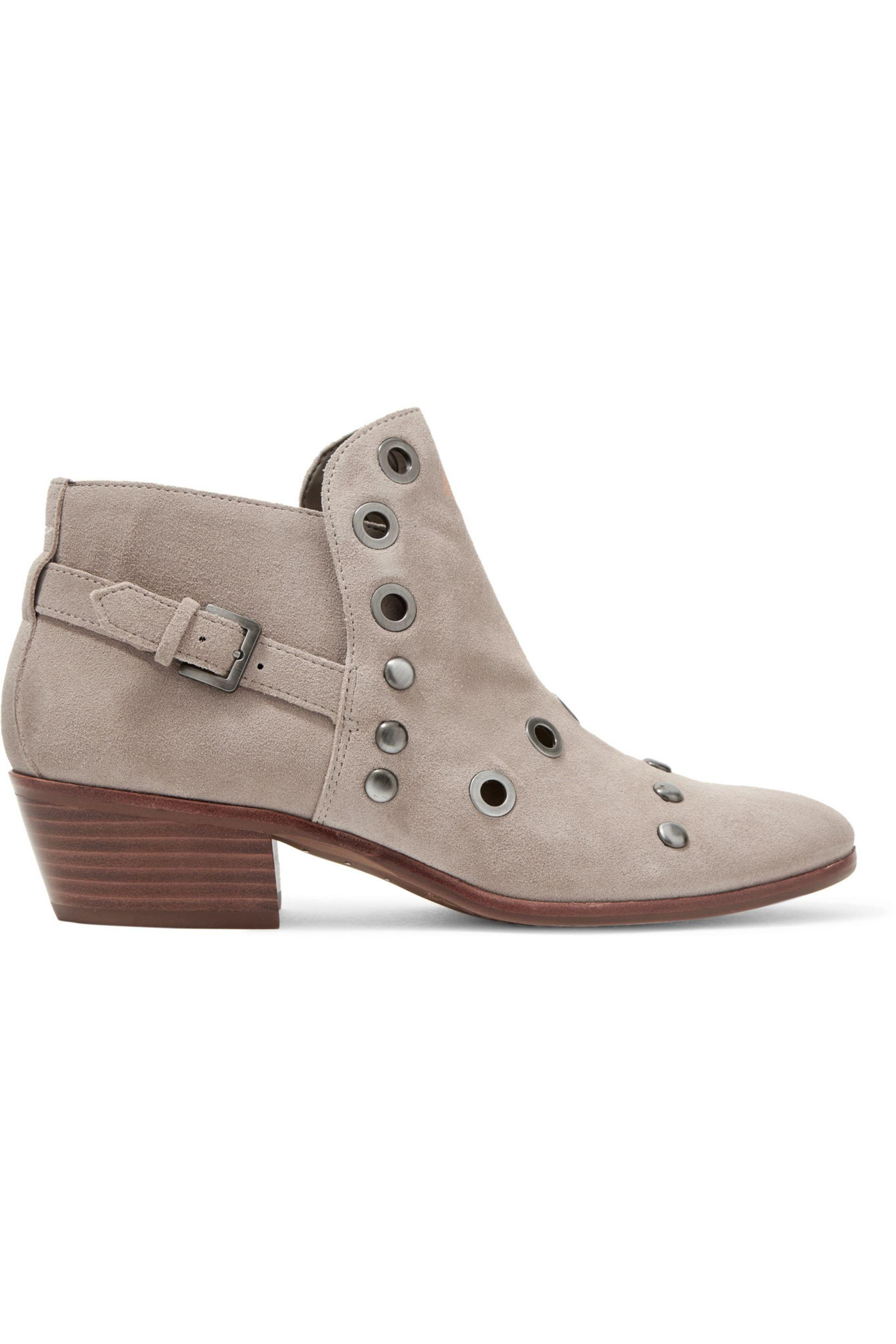 Sam Edelman. Women's Natural Pedra Embellished Suede Ankle Boots