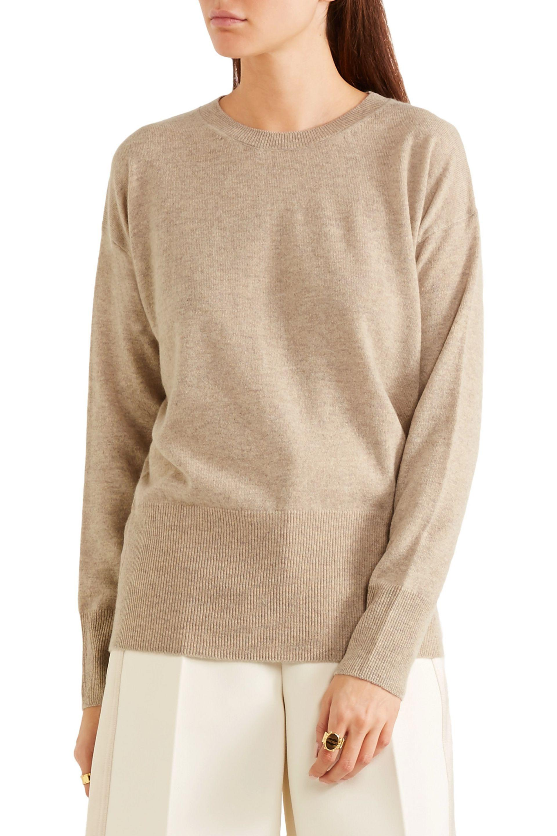 5ffe0599b5b Lyst - Vince Cutout Cashmere Sweater in Natural