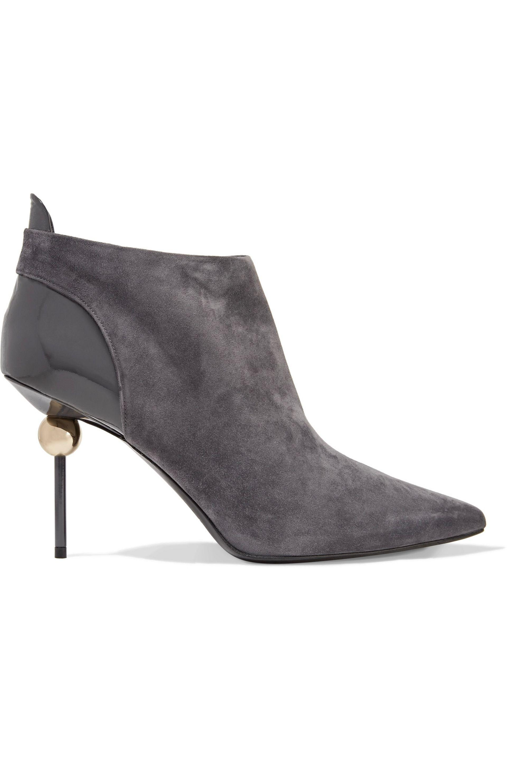 Roger Vivier Embellished suede ankle boots IcWryUCZS