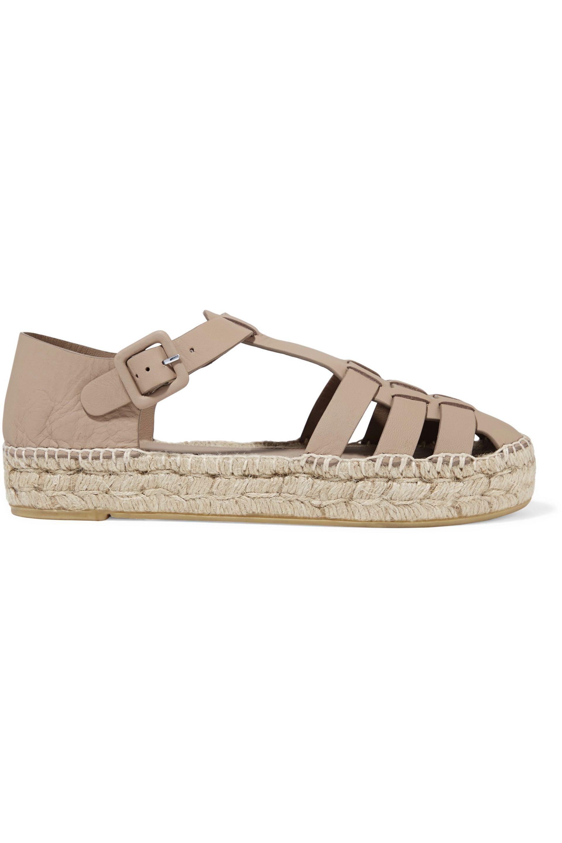 Paloma Barceló. Women's Irma Cutout Leather Espadrilles