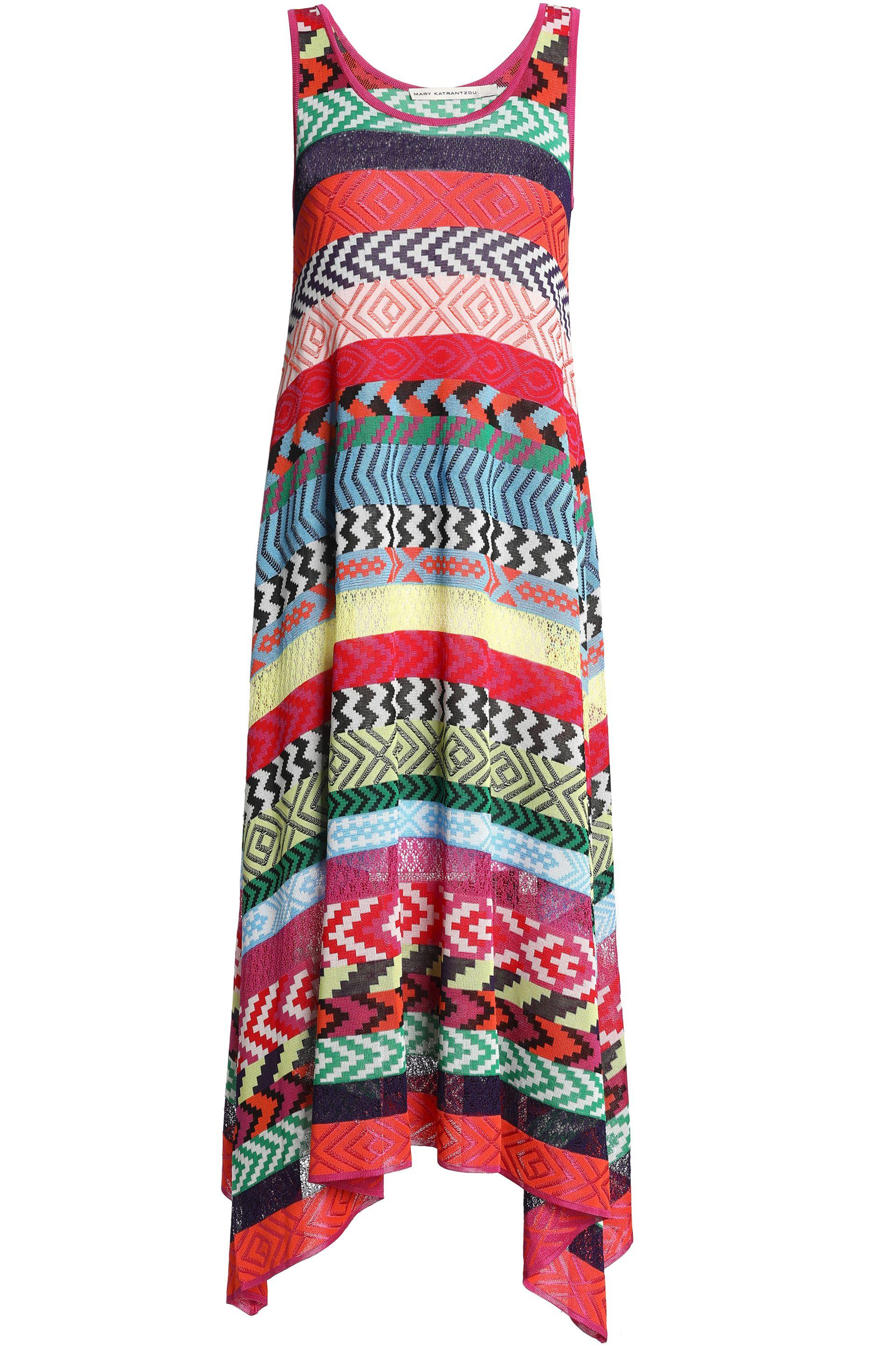 Mary Katrantzou - Woman Leandra Striped Jacquard-knit Midi Dress Multicolor  - Lyst. View fullscreen 361cc1e56