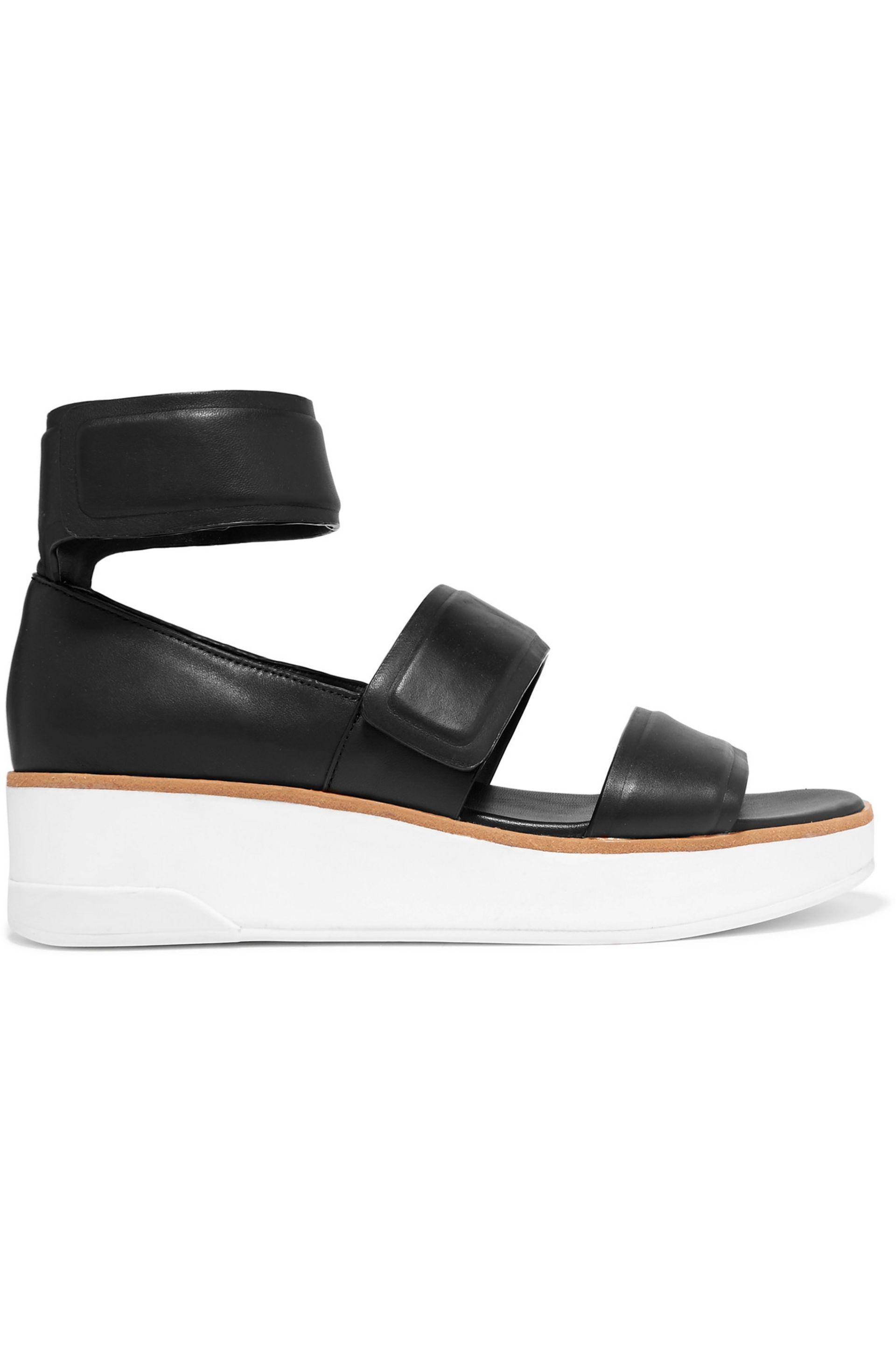 1b382a89d5e Dkny Leather Sandals in Black - Lyst