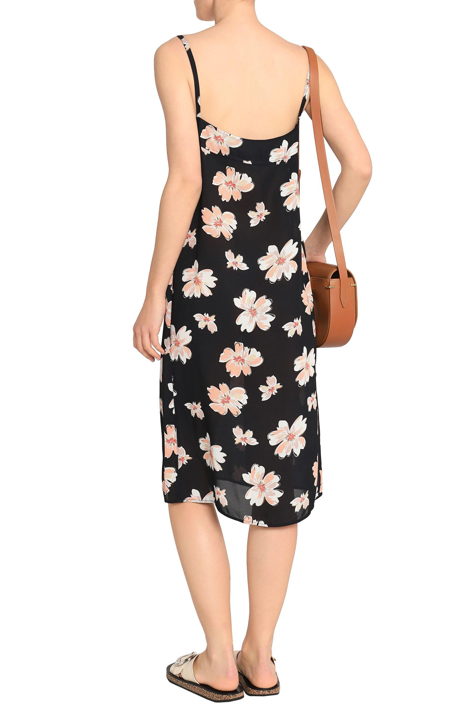 Joseph Woman Floral-print Twill Dress Black Size 42 Joseph O5n4gihR9L