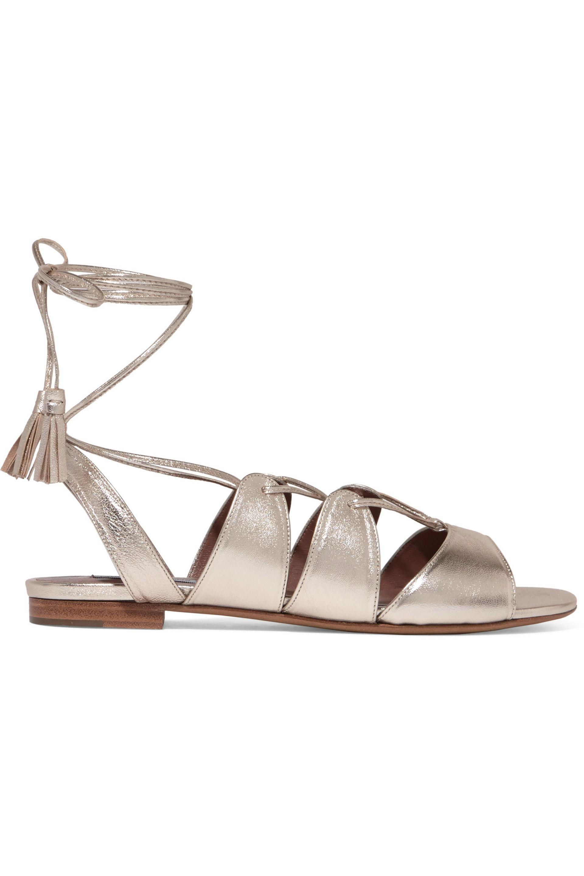 Tabitha Simmons Metallic Lace-Up Sandals low price sale order for cheap online online cheap authentic XzV3qH