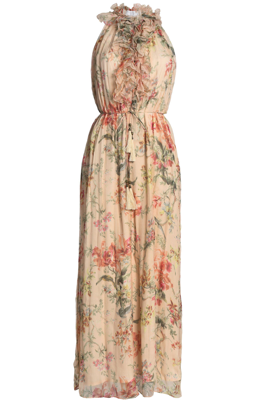 cb563be989 Zimmermann Woman Ruffle-trimmed Floral-print Silk-georgette Wide-leg ...