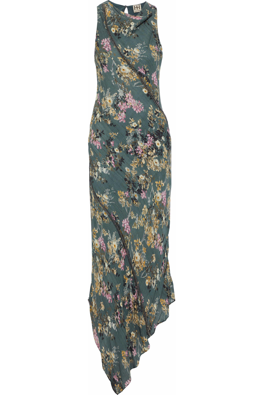 cd0ed81b656540 Haute Hippie Woman Cecilia Asymmetric Chain-embellished Floral-print ...