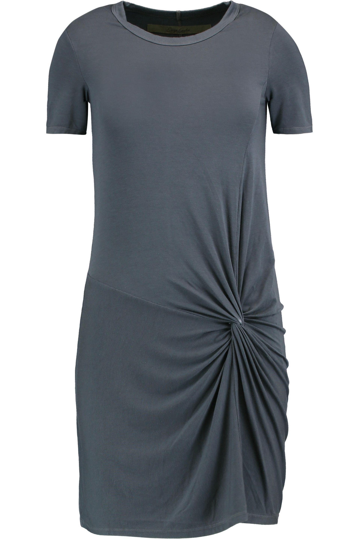 Enza Femme Costa Nouée Coton Jersey Mini Robe Noir Taille M Enza Costa lKLKXnh