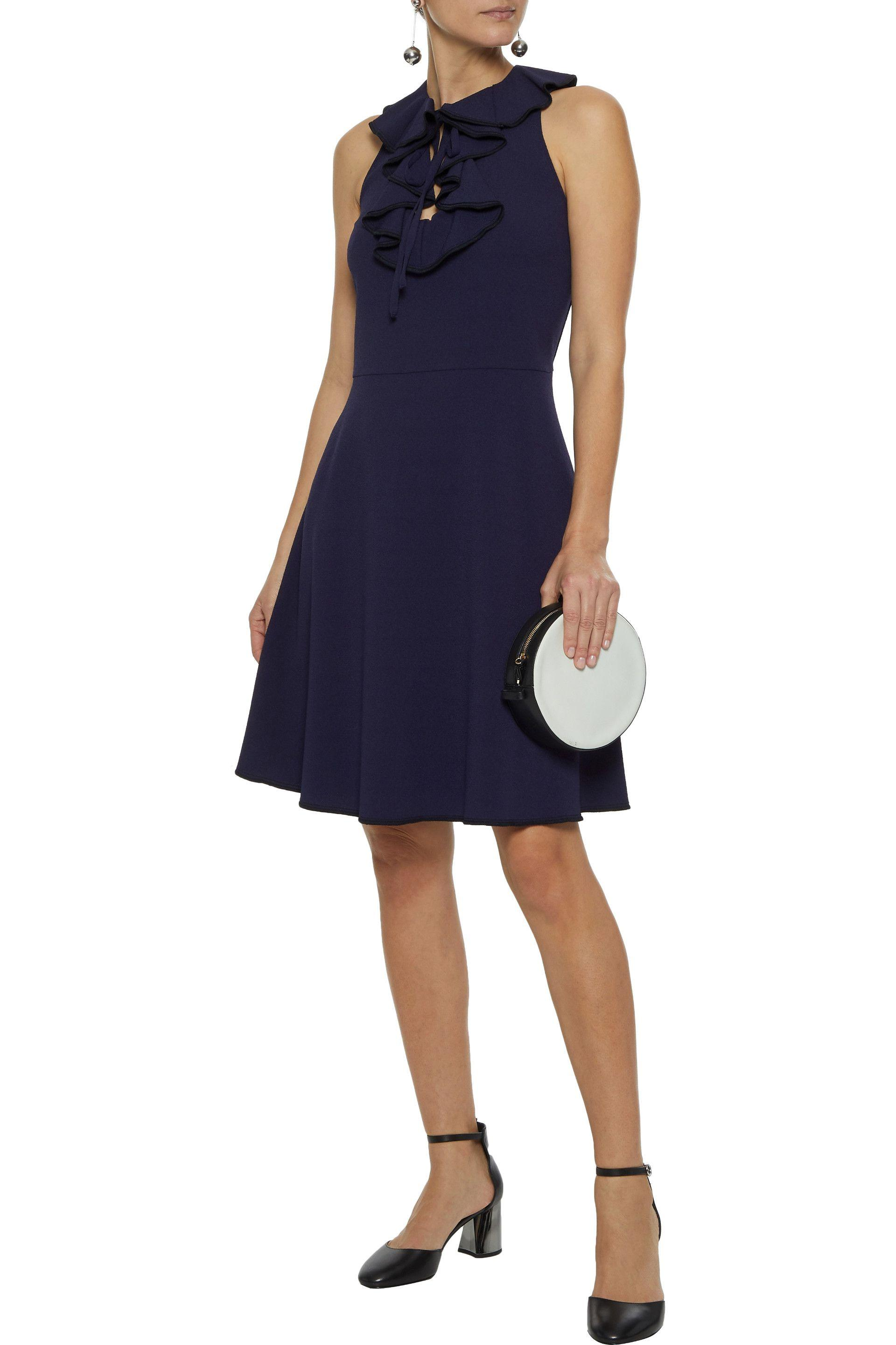 e93047e267 Lyst - See By Chloé See By Chloé Woman Ruffle-trimmed Crepe Dress ...