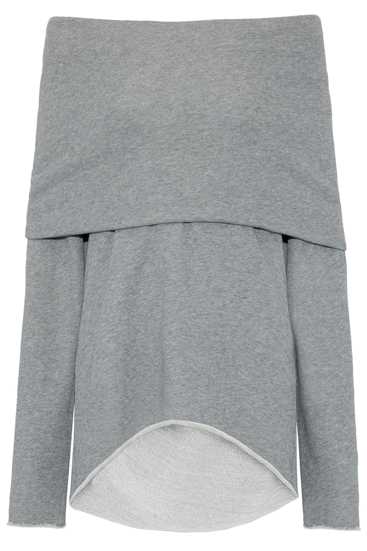 2d2f242938d4af RTA. Women s Gray Abel Off-the-shoulder French Cotton-blend Terry Sweatshirt