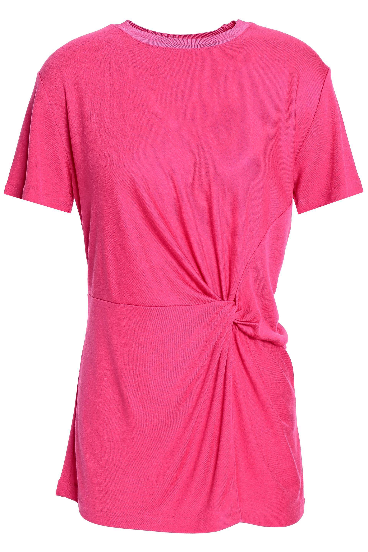641be1f879bb2 Lyst - Rag   Bone Woman Twist-front Jersey Top Bright Pink in Pink ...