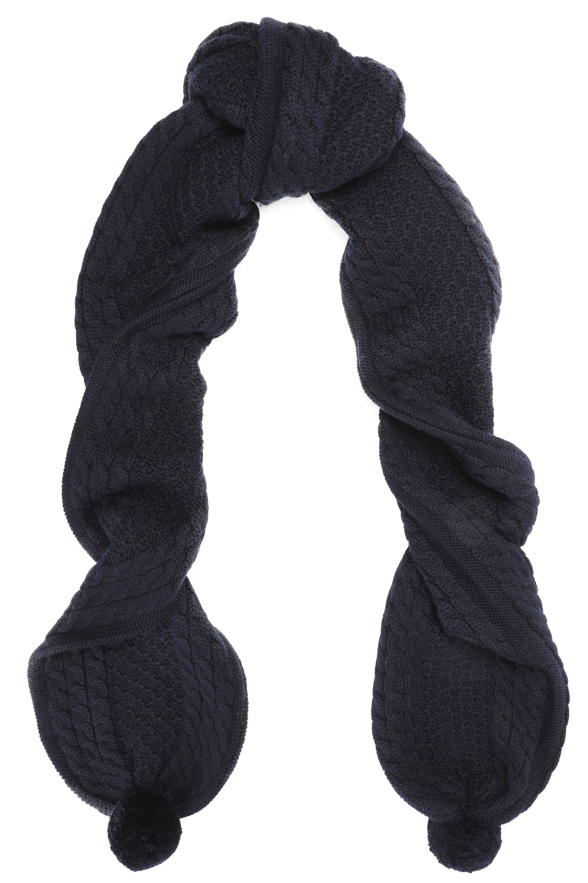 Chinti And Parker Woman Cable-knit Merino Wool Scarf Navy Size Chinti and Parker m4CEMg