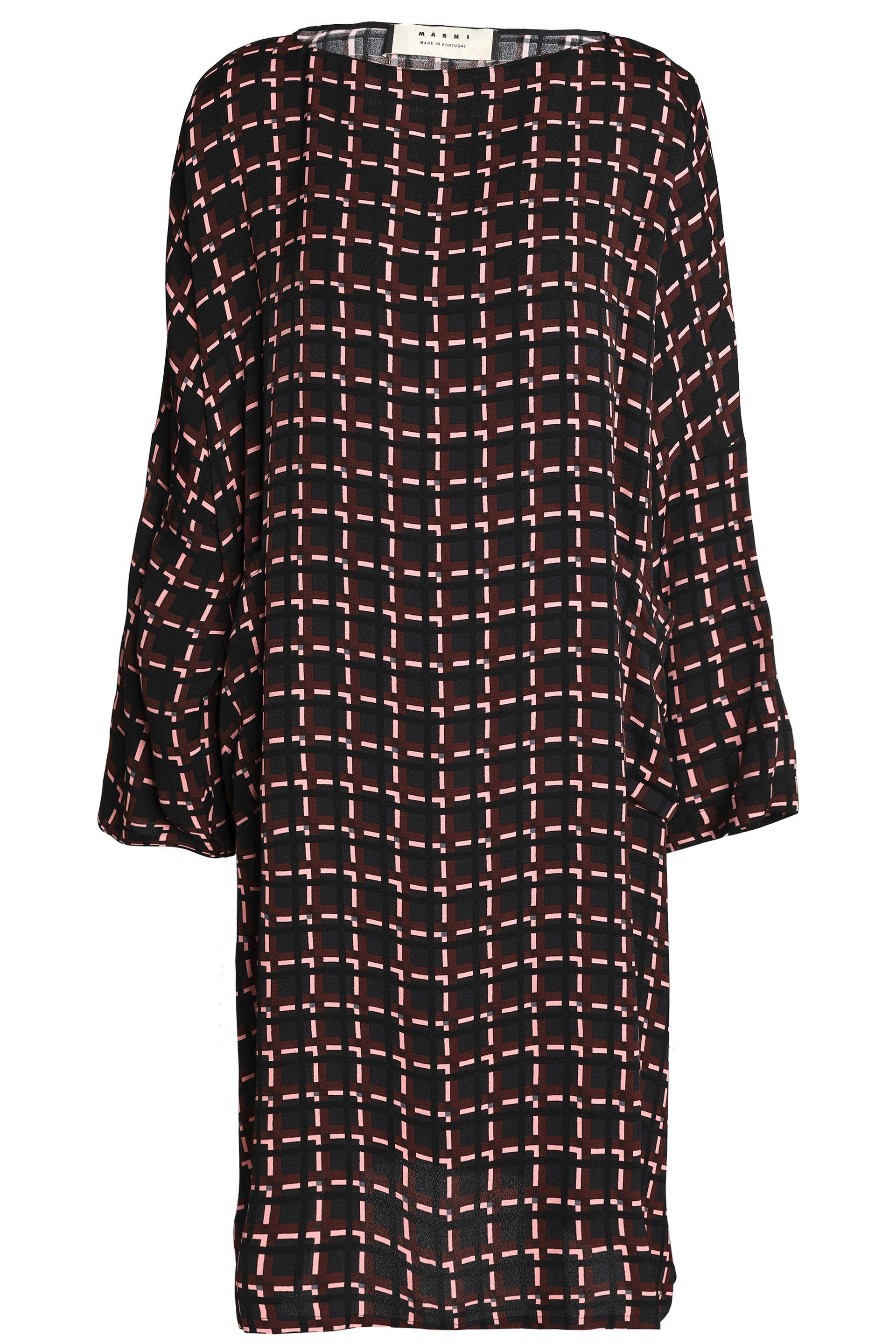 low priced e0349 1ba24 marni-Black-Oversized-Checked-Crepe-Dress.jpeg