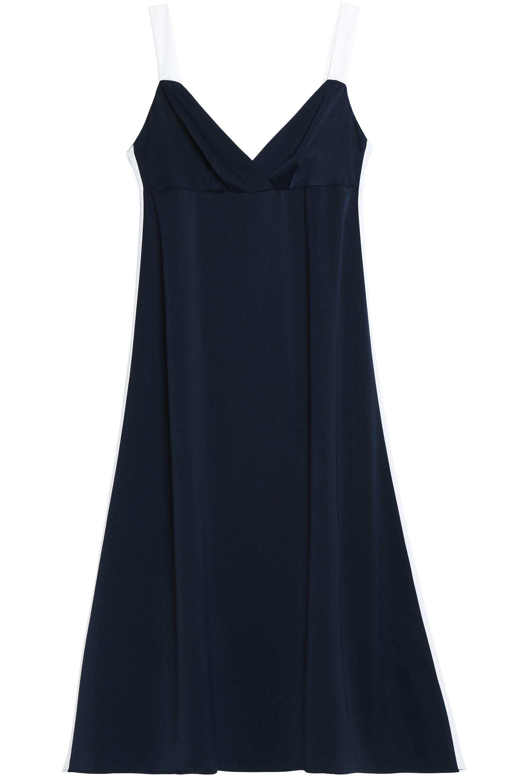 2018 New Iris & Ink Woman Toni Belted Jersey Midi Dress Midnight Blue Size M IRIS & INK For Nice Cheap Online zEXND5WPV