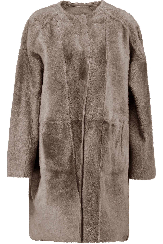 Shearling Salomon Coat Wqgxcaf Long Yves Noir 6nFgUq