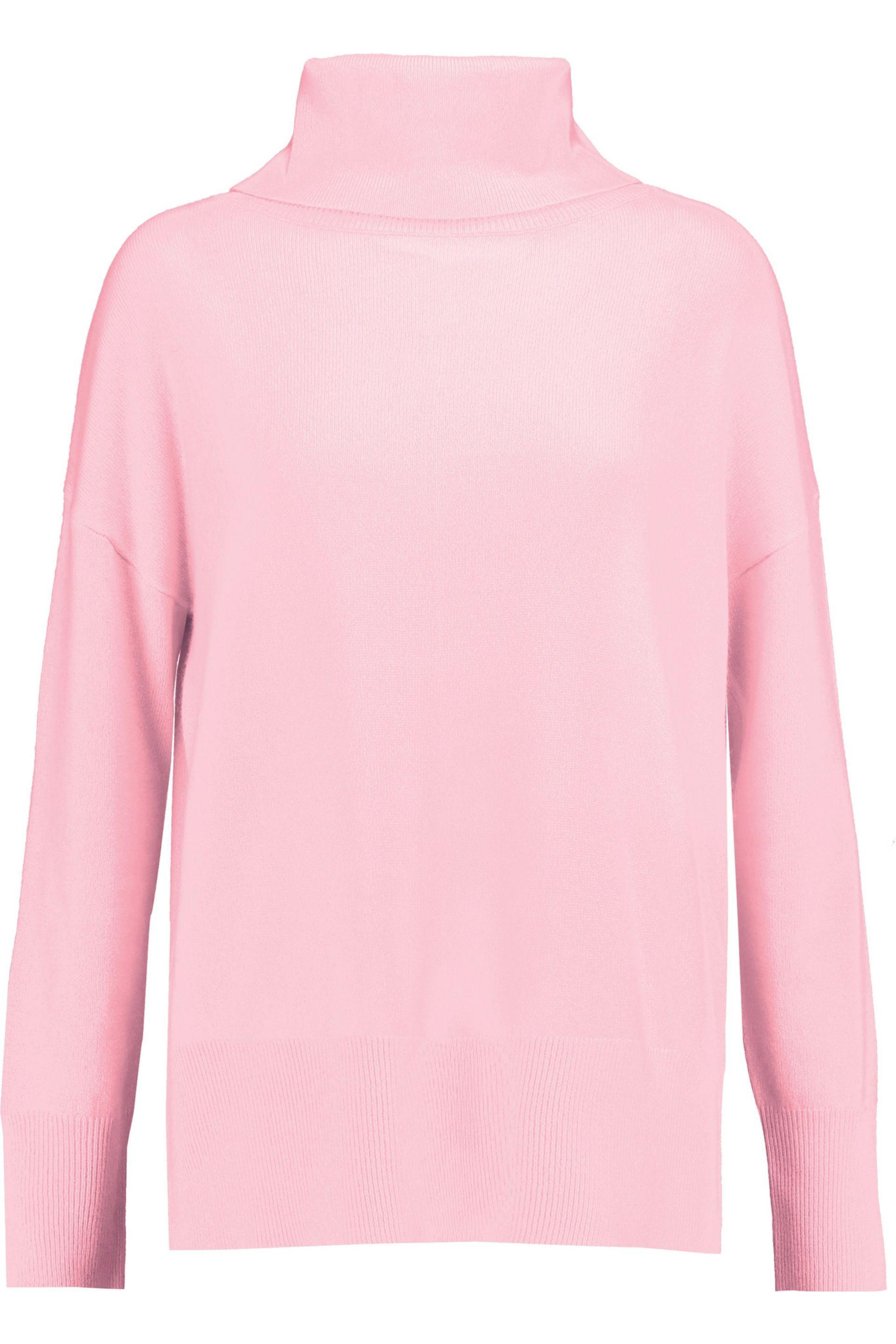 Iris & ink Grace Cashmere Turtleneck Sweater in Pink | Lyst