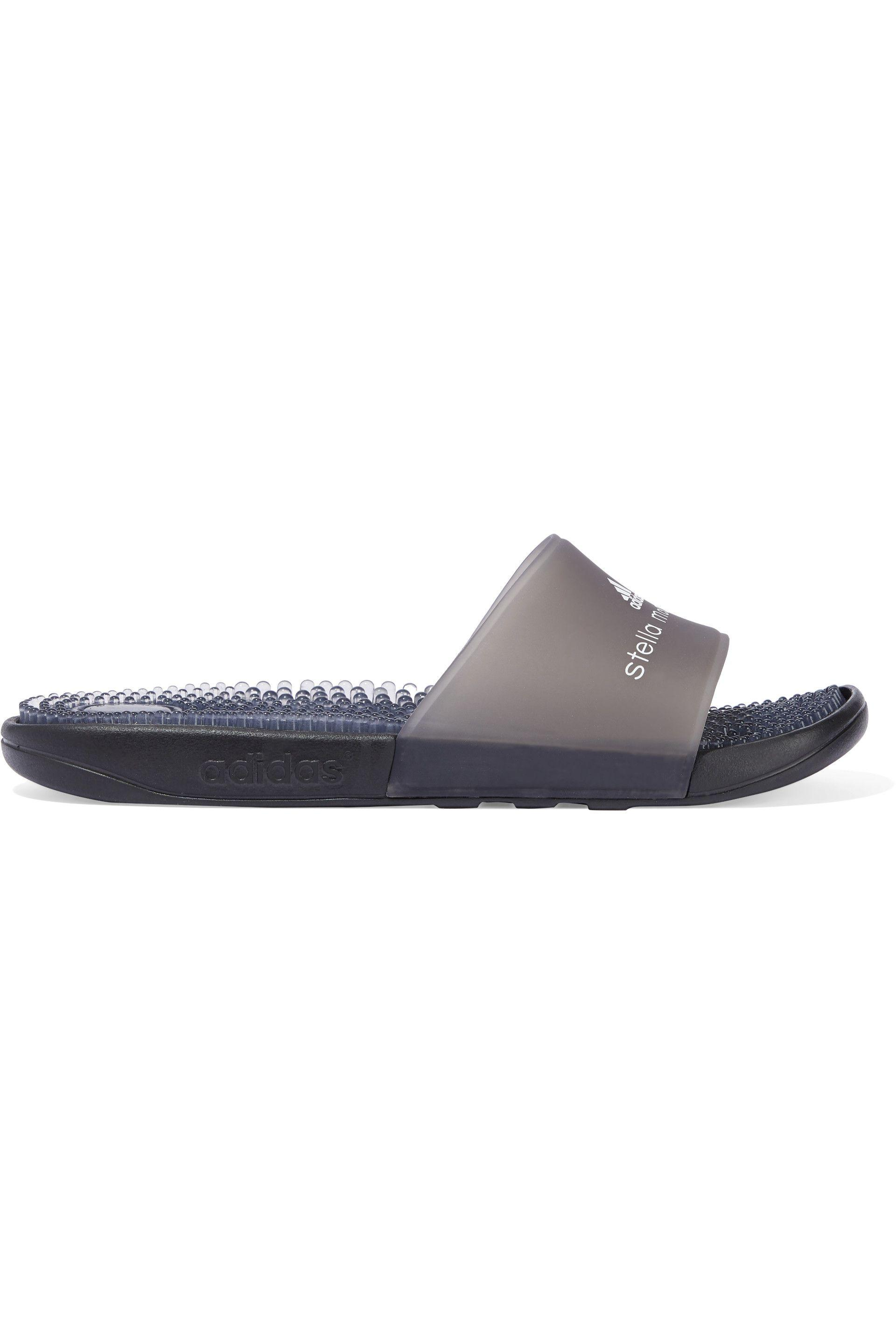 99927591aa7a adidas By Stella McCartney. Women s Woman + Stella Mccartney Adissage  Printed Rubber Slides Anthracite