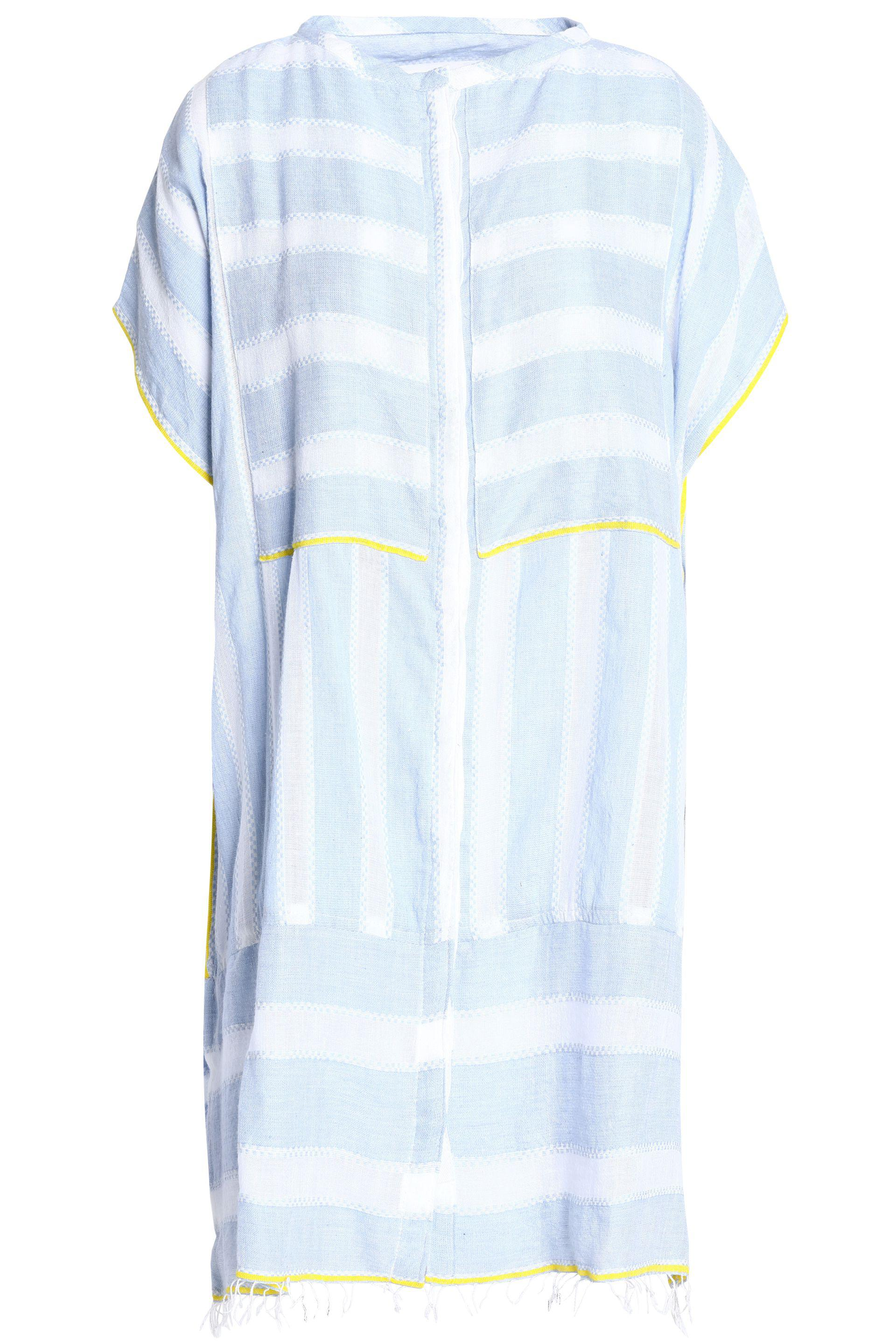 Lemlem Woman Off-the-shoulder Striped Cotton-gauze Coverup Sky Blue Size XS Lemlem Cheap Real Finishline Free Shipping The Cheapest Genuine Online Cheap Official 2018 Newest YcH1E
