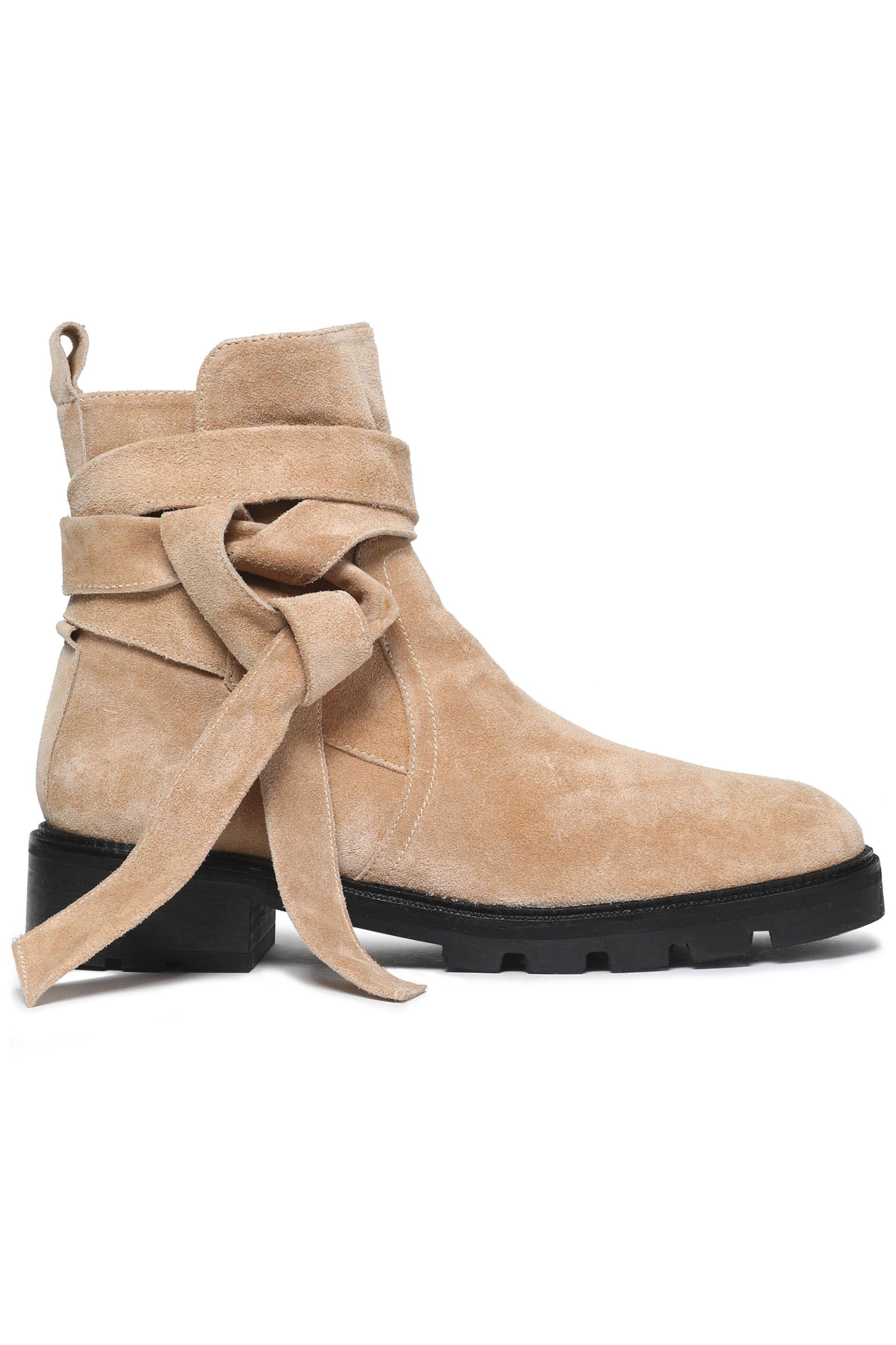 4a4084e5b48f Castaner Knotted Suede Ankle Boots in Natural - Lyst