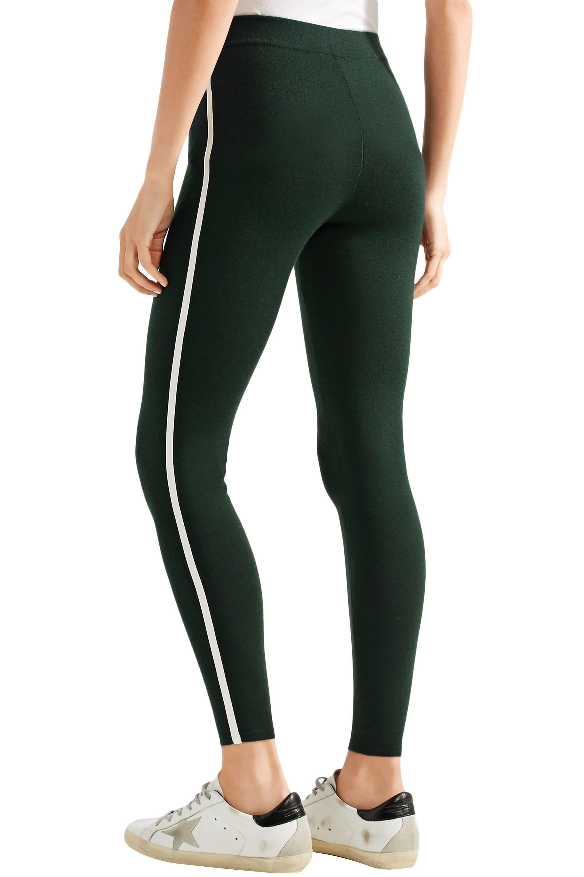 5d2428b0e75d9f James Perse Cashmere-blend Leggings Dark Green in Black - Save 40% - Lyst