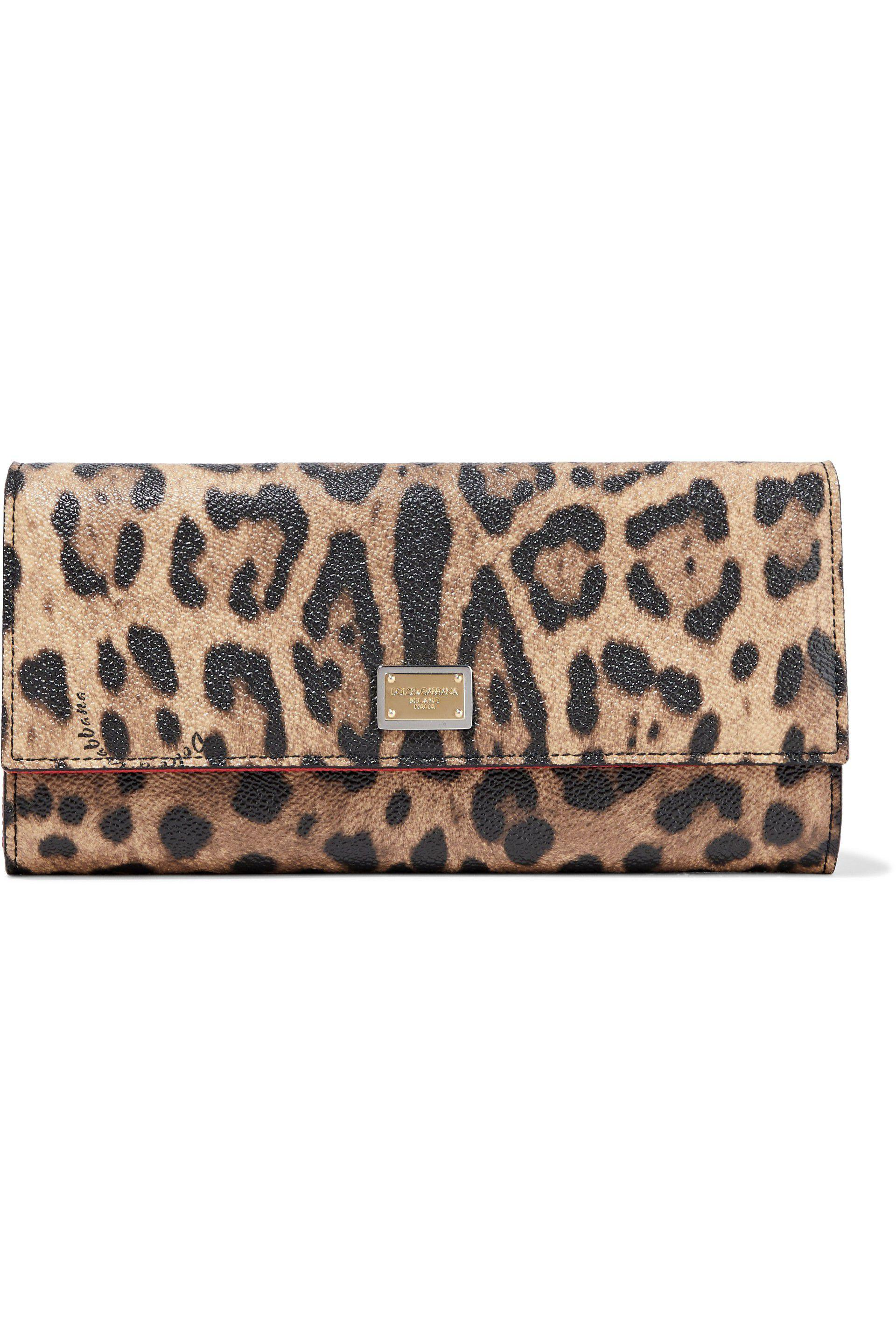 58d9e75f7803 Dolce & Gabbana - Multicolor Woman Leopard-print Textured-leather Wallet  Animal Print -