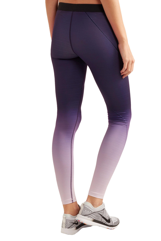 fdfc3ddcb3c198 Nike Pro Hyperwarm Ombré Dri-fit Stretch-jersey Leggings in Purple ...