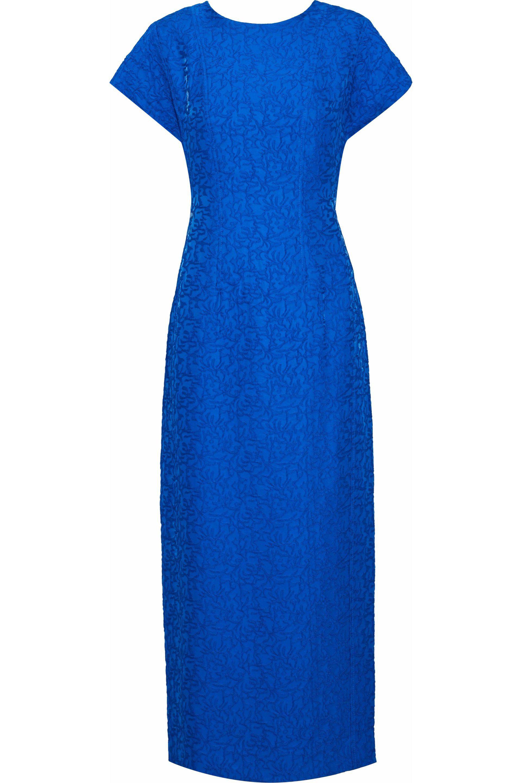 Diane von Furstenberg. Women's Jacquard Midi Dress Bright Blue