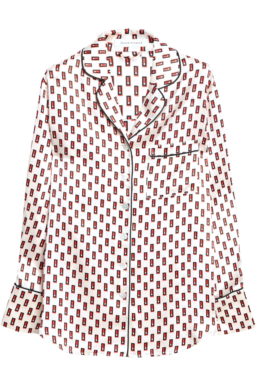 Olivia Von Halle - Multicolor Printed Silk-satin Pajama Set - Lyst. View  fullscreen 868b922d1