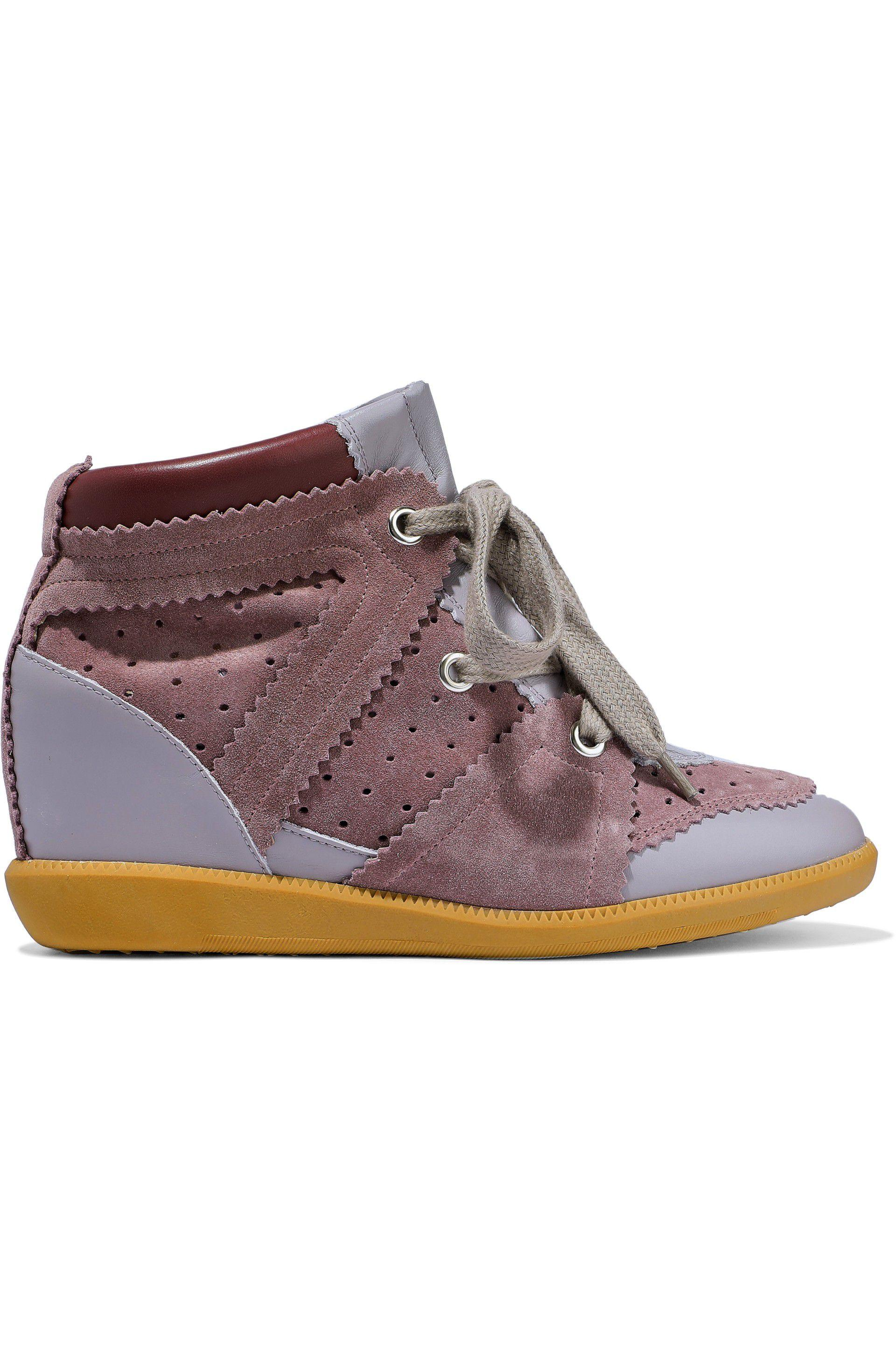 f87259205a0 Isabel Marant. Women's Purple Woman Betty Leather And Suede Wedge Sneakers  Lilac