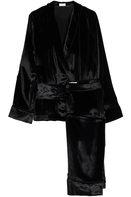 6e08ca9b64 Equipment Woman Chenille Pajama Set Black in Black - Lyst