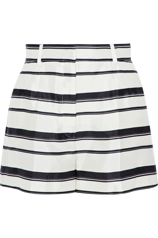 a035d92f Dolce & Gabbana. Women's White Woman Striped Silk-satin Twill Shorts Ivory