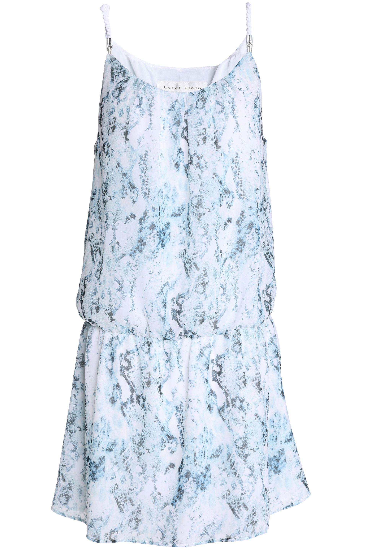 Heidi Klein Woman Striped Stretch-jersey Mini Dress Blue Size L Heidi Klein 7wrxNNFlnl