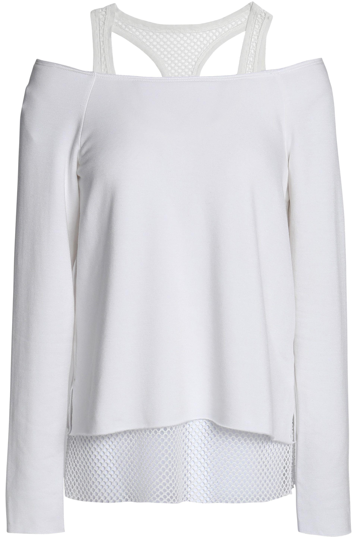mujer de hombros fleece corte hombro al de blanco malla con para 44 modal Bailey con Top fZqwTxSH